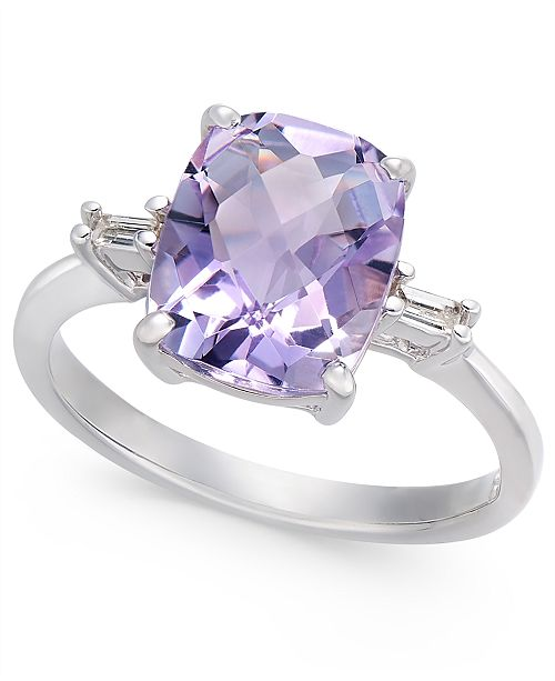 Macy's Pink Amethyst (2-7/8 ct. t.w.) & Diamond Accent Statement Ring in Sterling Silver