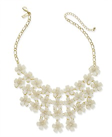 "I.N.C. Gold-Tone Flower Statement Necklace, 20"" + 3"" extender, Created for Macy's"