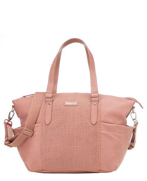Storksak Babymel Anya Faux Leather Diaper Bag