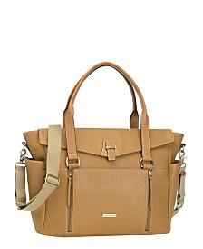 Storksak Emma Leather Diaper Bag