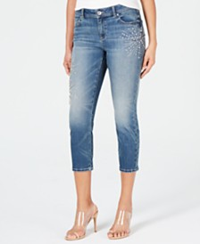 I.N.C. Embellished Capri Jeans, Created for Macy's