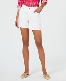 I.N.C. Curvy Casual Jean Shorts, Created for Macy's