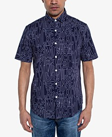 Men's Regular-Fit Logo-Print Shirt