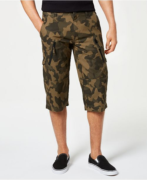INC International Concepts I.N.C. Men's Camo Messenger Shorts, Created for Macy's