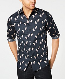 INC Men's Rose Skull Shirt, Created for Macy's