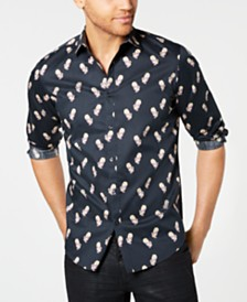 I.N.C. Men's Rose Skull Shirt, Created for Macy's