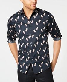 I.N.C. Men's Rose Skull Shirt, Created for Macy's