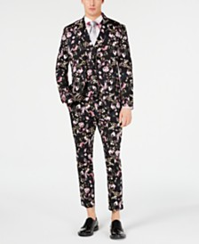 I.N.C. Men's Floral Suit, Created for Macy's