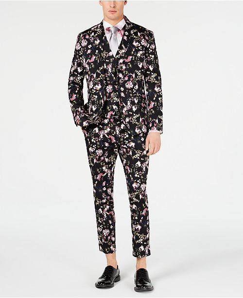 INC International Concepts I.N.C. Men's Slim-Fit Floral Blazer, Created for Macy's