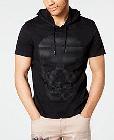 I.N.C. Men's Skull Graphic Hooded T-Shirt, Created for Macy's