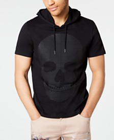 I.N.C. Men's Skull Graphic Hooded T-Shirt, Created for Macy's