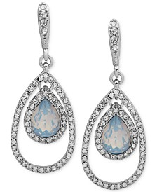 Givenchy Crystal & Stone Orbital Large Drop Earrings