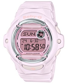 Women's Digital Pink Resin Strap Watch 42.6mm