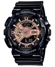 G-Shock Women's Analog-Digital Black Resin Strap Watch 51.2mm