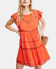 Free People Retro Kitty Crochet-Trim Dress