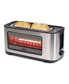 Elite Platinum Stainless Steel and Glass 2 Slice Toaster