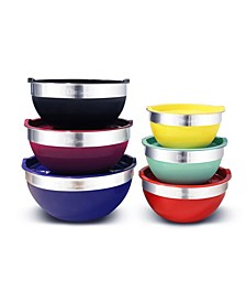 Elite Gourmet 12-Pc. Colored Mixing Bowl Set