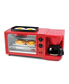 Americana by Elite 3 in 1 Extra Large Breakfast Center - Coffee, Toaster Oven, Griddle