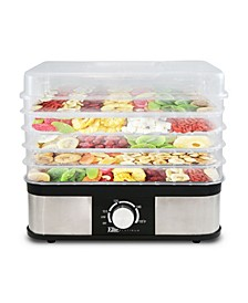 Elite Platinum 5 Tray Stainless Steel Snack Maker Food Dehydrator