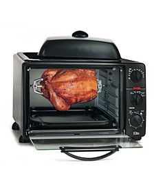 Elite Platinum 0.8' Multi - function Toaster Oven with Rotisserie, Convection and Grill, Griddle Oven Top