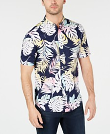 Club Room Men's Watercolor Floral Graphic Shirt, Created for Macy's
