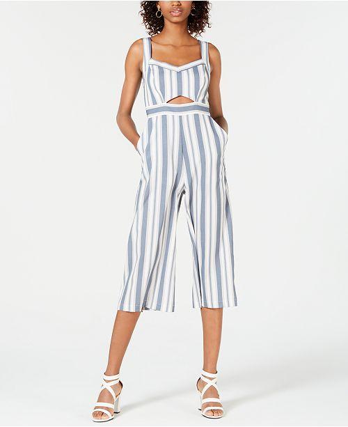 d4c03bd3678c Teeze Me Juniors  Striped Cutout Jumpsuit   Reviews - Pants   Capris ...