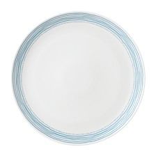 ED Ellen DeGeneres Crafted by Royal Doulton Polar Blue Dots Dinner Plate