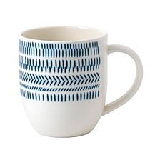 Crafted by Royal Doulton Cobalt Blue Chevron Mug