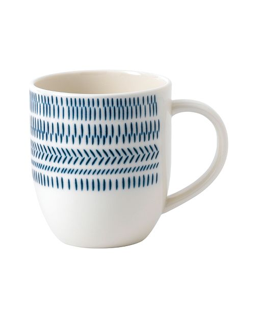 ED Ellen Degeneres Crafted by Royal Doulton Cobalt Blue Chevron Mug