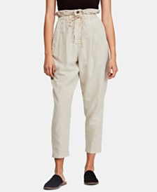 Free People Margate Pleated Pull-On Trousers