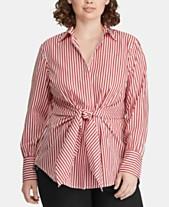 18862b7f6b089 Lauren Ralph Lauren Plus Size Cotton Shirt