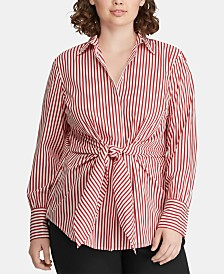 8465c29bf87f9 Lauren Ralph Lauren Plus Size Tops - Macy s