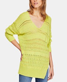 Free People Hot Tropics Open-Knit Sweater