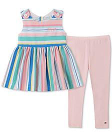 Toddler Girls 2-Pc. Striped Tunic & Leggings Set