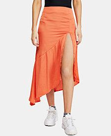 Free People Lola Slit Ruffled Midi Skirt
