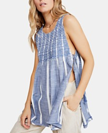 Free People Obi Posey Cotton Smocked Top