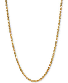 """Italian Gold Rope 28"""" Chain Necklace in 14k Gold"""