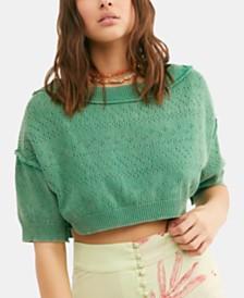 Free People Sand Castle Crop Sweater