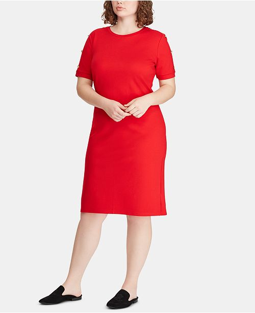 Lauren Ralph Lauren Plus Size Ponté-Knit Dress