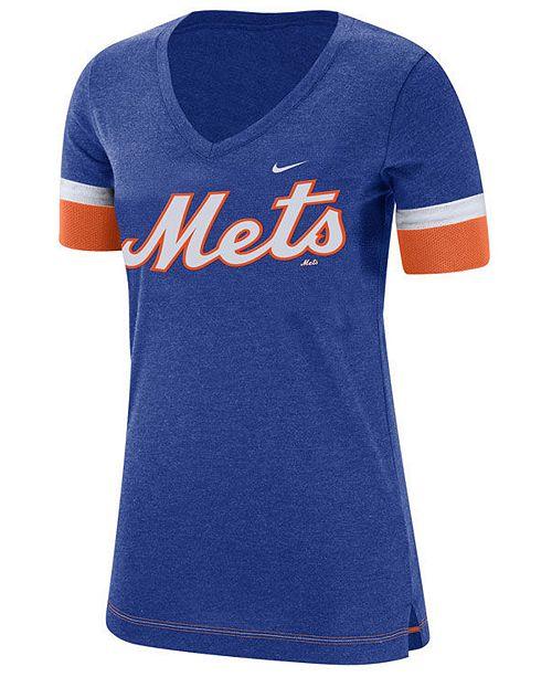 Nike Women's New York Mets Tri-Blend Fan T-Shirt