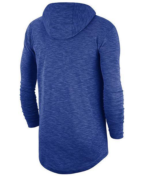 17bc8a7c195 Nike Men s Chicago Cubs Dry Slub Hooded T-Shirt   Reviews - Sports ...
