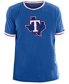 New Era Men's Texas Rangers Ringer Crew Top