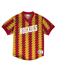 Mitchell & Ness Men's Houston Rockets Kicking It Wordmark Mesh T-Shirt