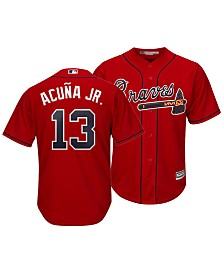 Majestic Men's Ronald Acuna Atlanta Braves Player Replica Cool Base Jersey