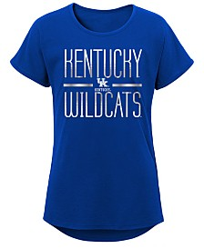 Outerstuff Big Girls Kentucky Wildcats Team Stripe T-Shirt