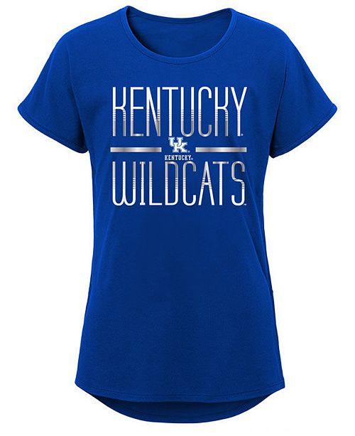 Outerstuff Big Girls Kentucky Wildcats Team Stripe T-Shirt