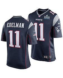 Nike Men's Julian Edelman New England Patriots Super Bowl LIII Patch Game Jersey
