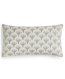 "CLOSEOUT! Mosaic Embroidered 14"" x 26"" Decorative Pillow, Created for Macy's"