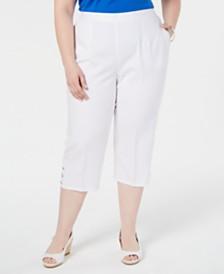 Alfred Dunner Plus Size Waikiki Cropped Pants