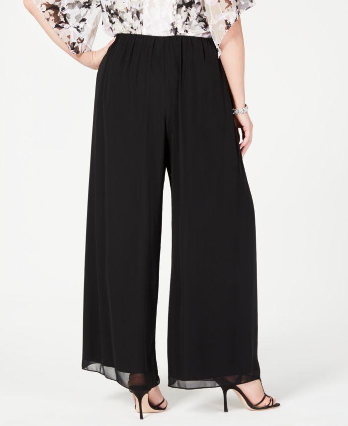 Alex Evenings Plus Size Wide-Leg Chiffon Pants & Reviews - Pants & Leggings - Women - Macy's